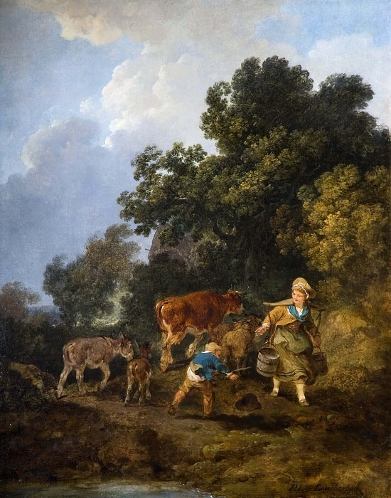 The Milkmaid. Philip James de Loutherbourg
