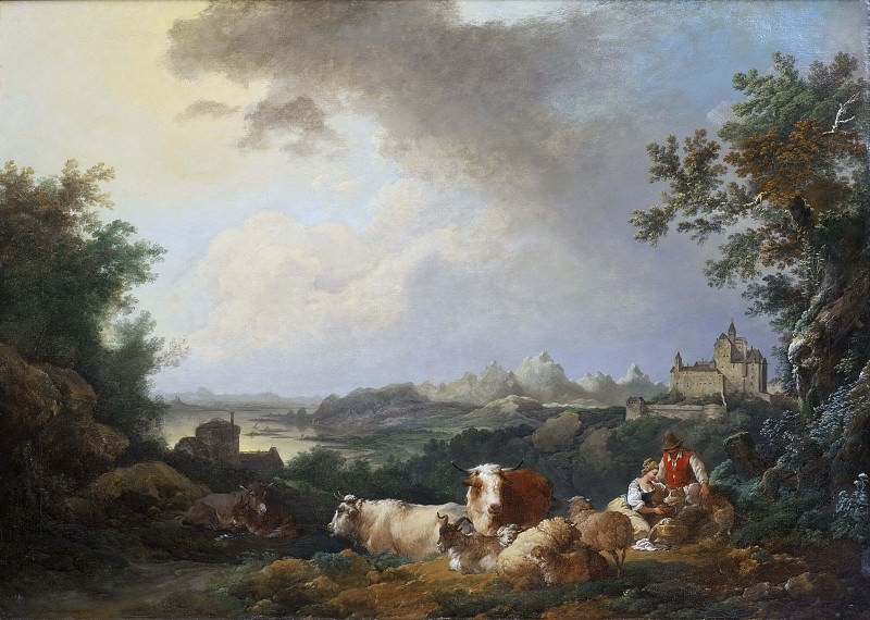 Landscape with Resting Cattle. Philip James de Loutherbourg