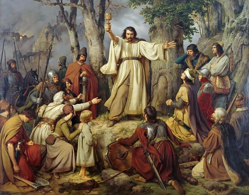 Hussite Sermon. Karl Friedrich Lessing