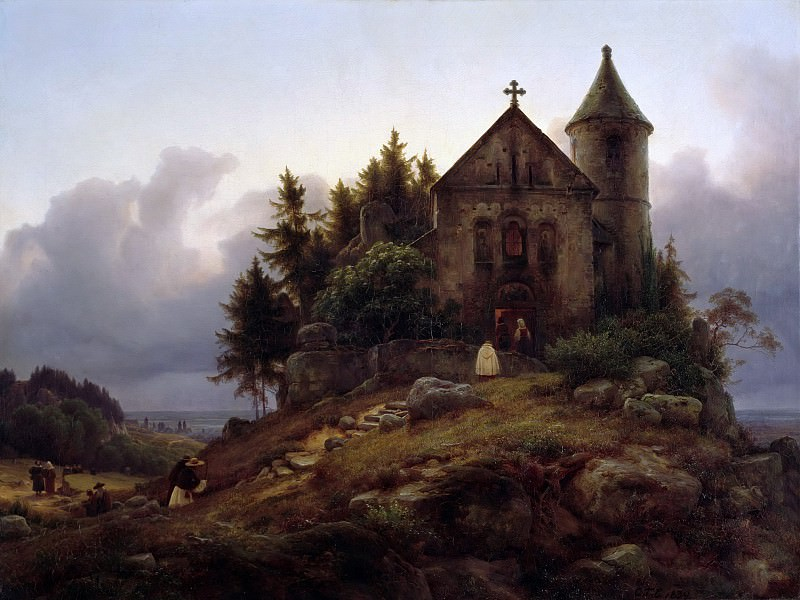 The Forest Chapel. Karl Friedrich Lessing