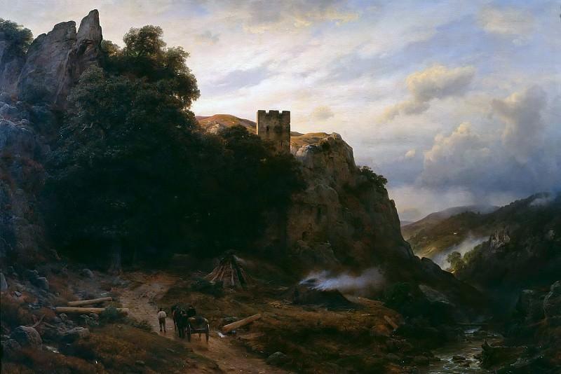 Castle in the Eifel. Karl Friedrich Lessing