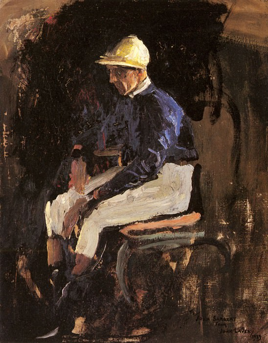 A Portrait Of Joe Childs, The Rothschilds Jockey. Sir John Lavery