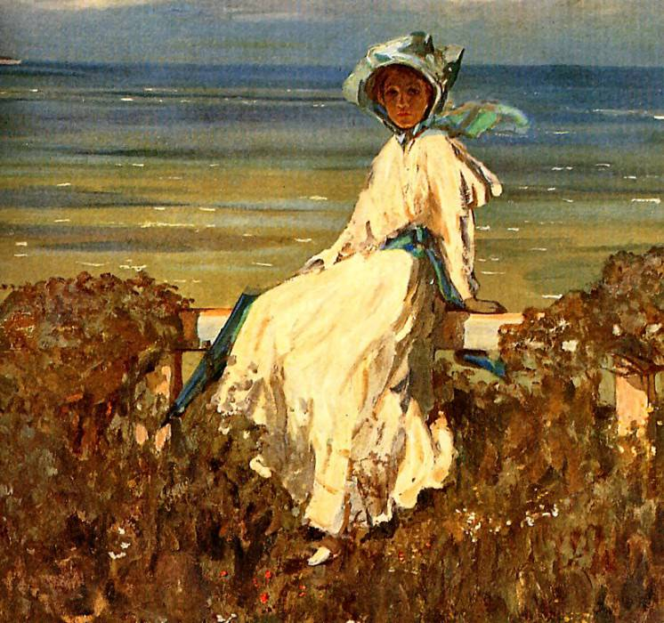 On the Cliff. Sir John Lavery