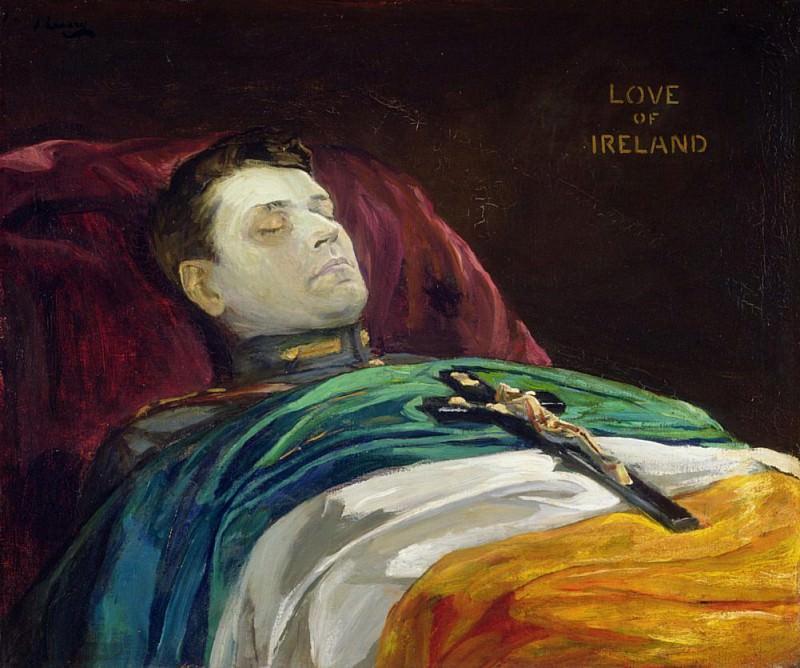 Michael Collins (Love of Ireland). Sir John Lavery