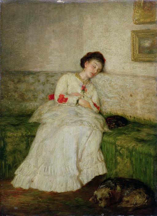 The Green Sofa. Sir John Lavery