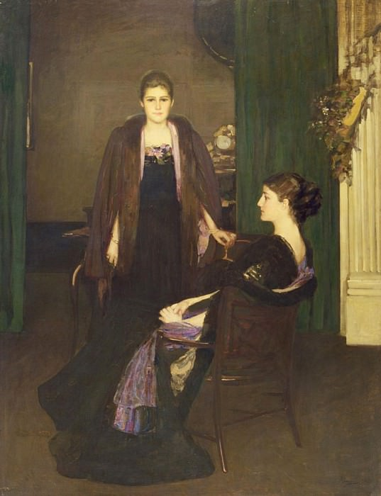 Miss MacLaren and Mrs Oliver. Sir John Lavery