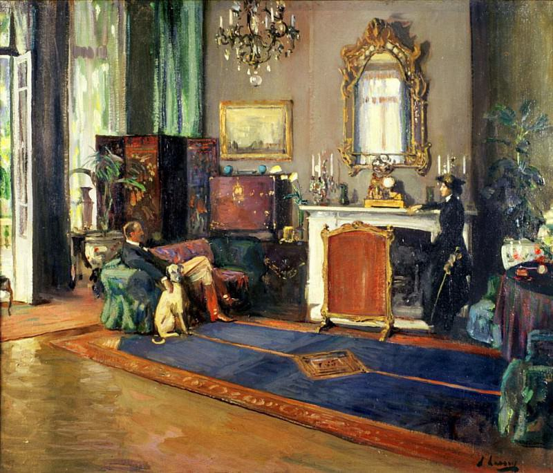 The Last British Minister, the Drawing Room, British Legation Tangiers. Sir John Lavery