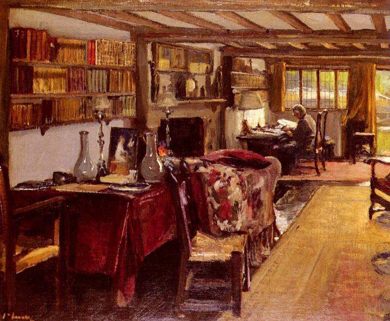 Комната писателя в Варфе. сэр Джон Лавери