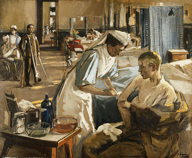 The First Wounded, London Hospital, 1914. Sir John Lavery