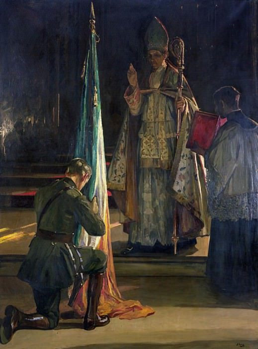 The Blessing of the Colours. Sir John Lavery