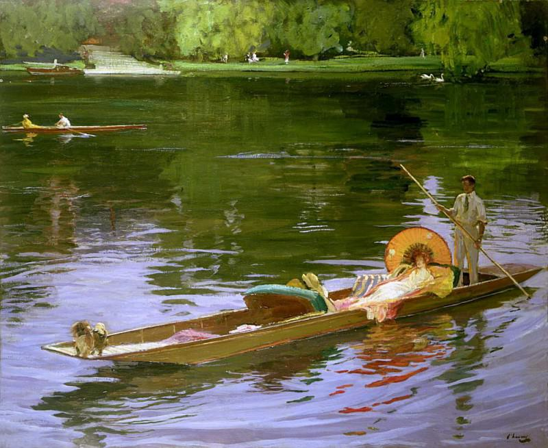 Boating Scene at Maidenhead. Sir John Lavery