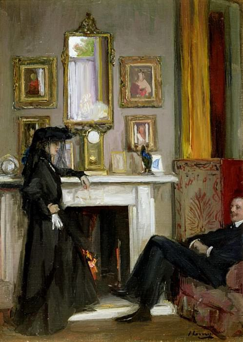 The Grey Drawing Room, Tangiers. Sir John Lavery