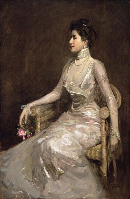 La Dame aux Perles. Sir John Lavery