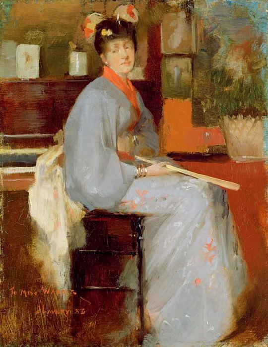 Woman in Japanese Dress. Sir John Lavery