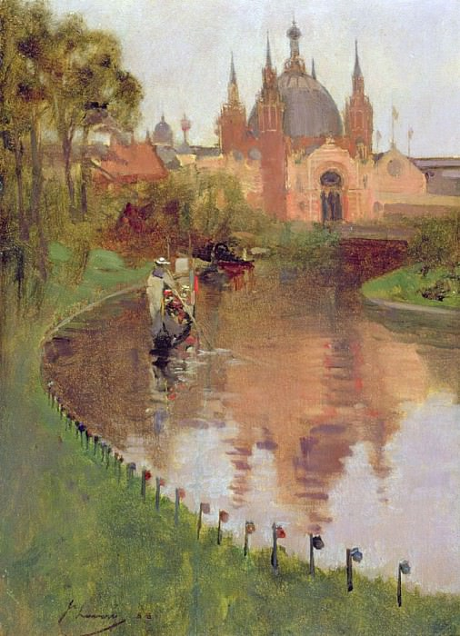 Kelvingrove, View from the River. Sir John Lavery