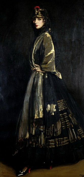 Hazel in Black and Gold. Sir John Lavery