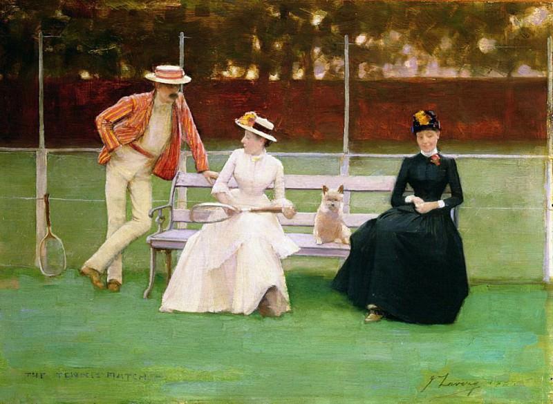 The Tennis Match. Sir John Lavery
