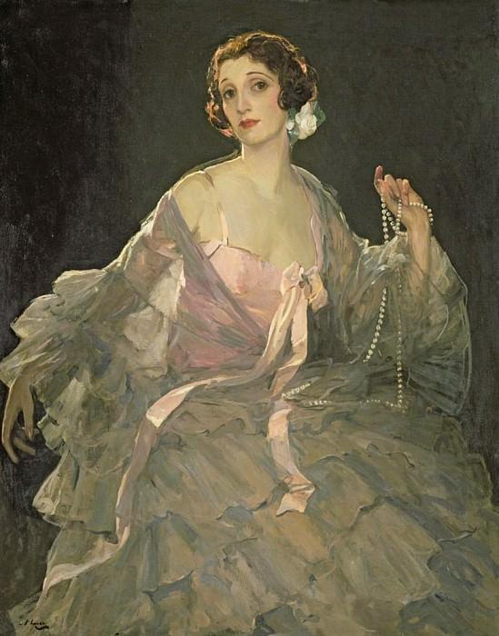 Hazel in Rose and Grey. Sir John Lavery