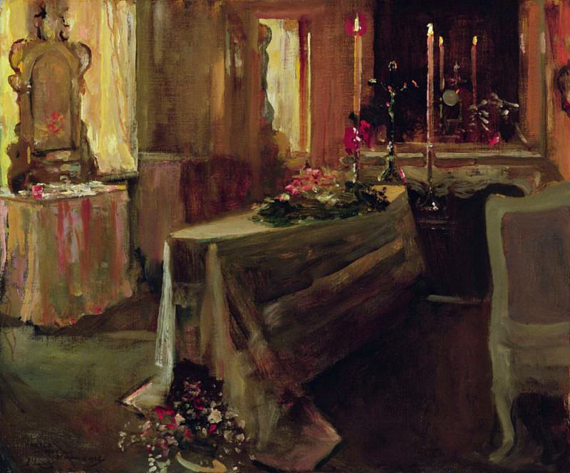 It is Finished 5th Jan 1935. Sir John Lavery