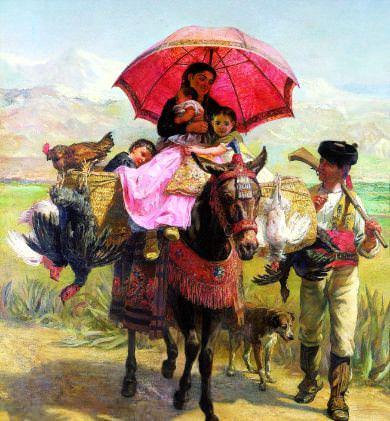 De camino en Granada. Edwin Longsden Long