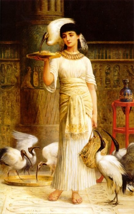 Alethe Attendant of the Sacred Ibis in the Temple of Isis at. Edwin Longsden Long