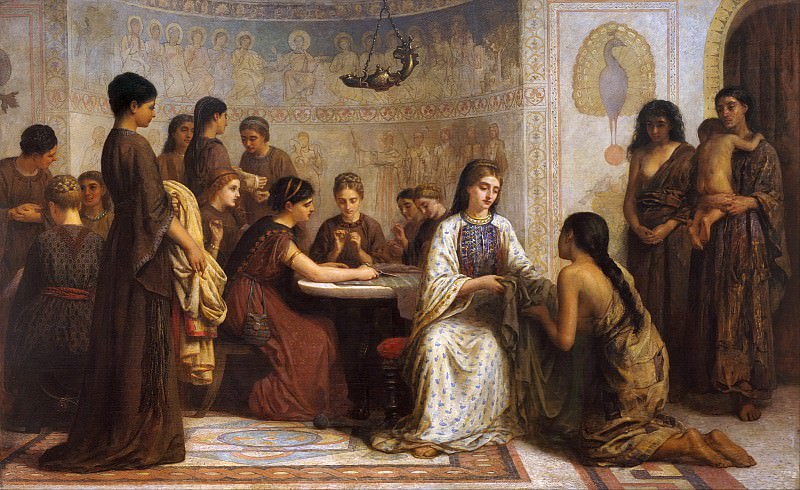 A Dorcas meeting in the 6th century. Edwin Longsden Long