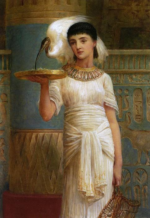 Alethe Attendant of the Sacred Iblis 1887 Oil on Panel. Edwin Longsden Long