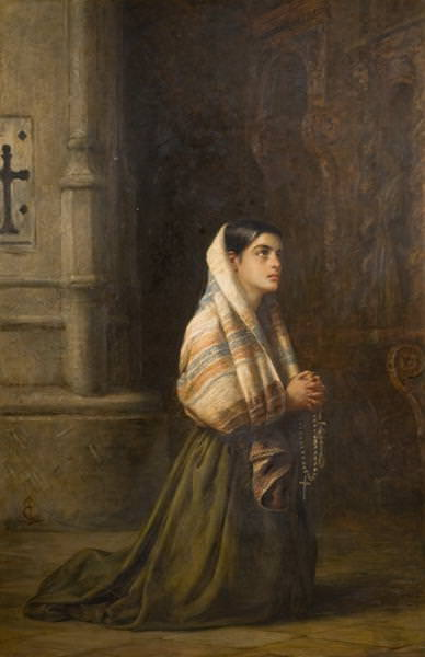 At Prayer. Edwin Longsden Long