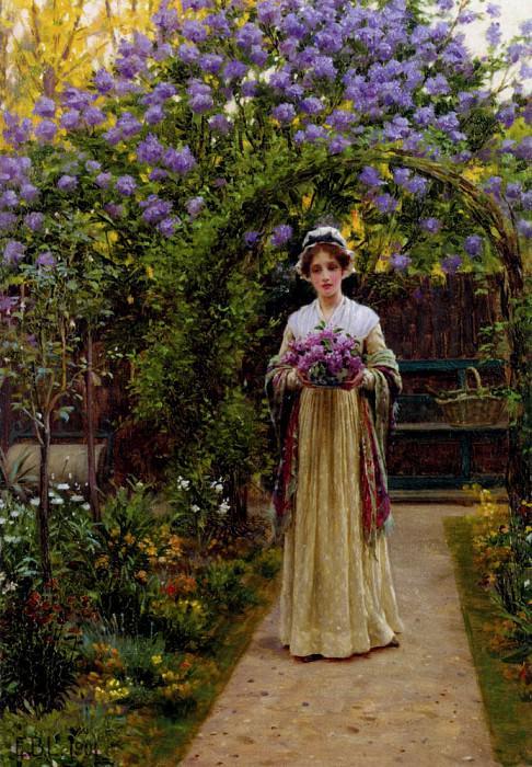Lilac. Edmund Blair Leighton