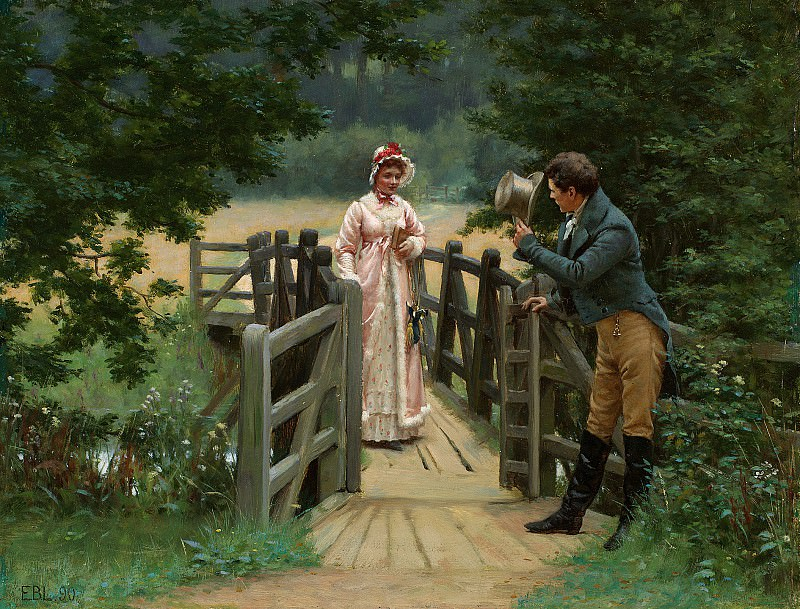 The Galant Suitor. Edmund Blair Leighton