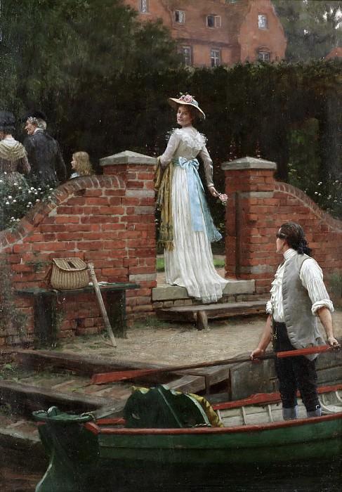 The glance that enchants. Edmund Blair Leighton