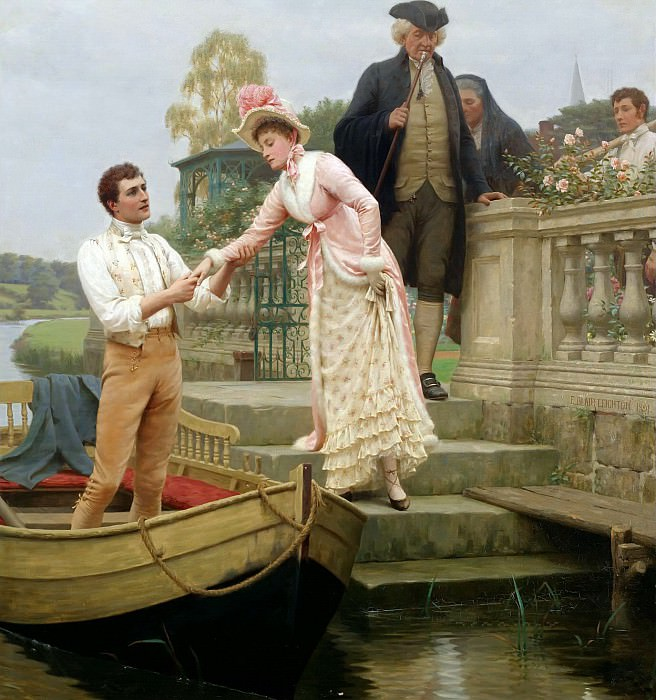 Lay Thy Sweet Hand In Mine And Trust In Me. Edmund Blair Leighton