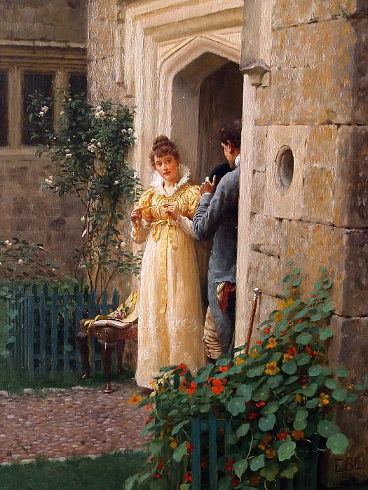 The Request. Edmund Blair Leighton