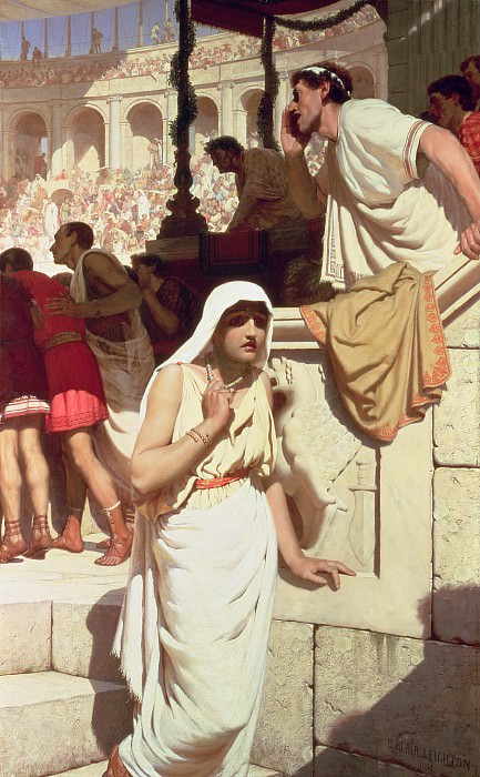Gladiators Wife. Edmund Blair Leighton