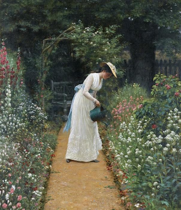 My Lady's Garden. Edmund Blair Leighton