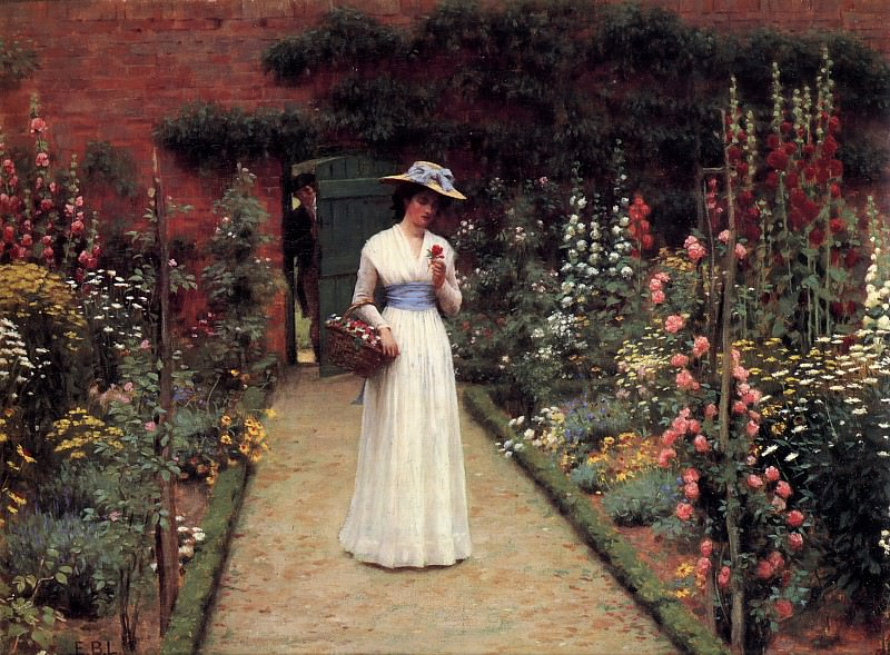 The Rose Garden. Edmund Blair Leighton