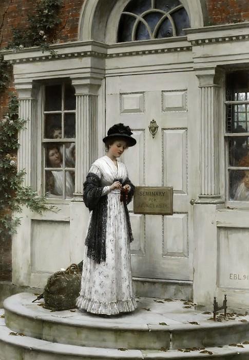 The New Governess. Edmund Blair Leighton