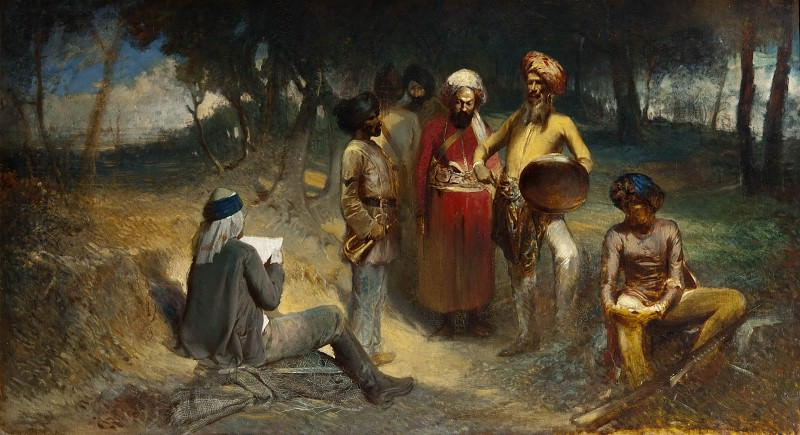 Examining the Spy. Motif from the Indian Mutiny. Egron Sellif Lundgren