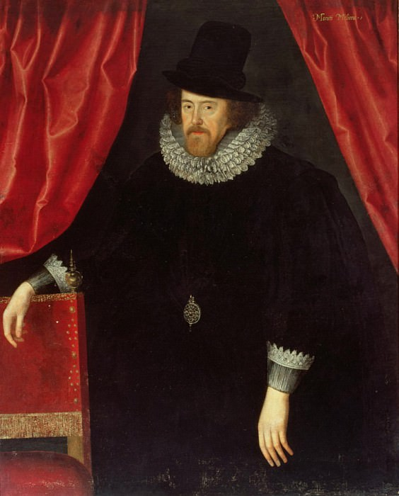 Portrait of Francis Bacon (1561-1626), 1st Baron of Verulam and Viscount of St. Albans. William Larkin