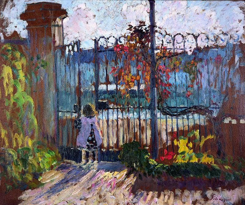 La Grille du Jardin de Lagny. Henri Lebasque