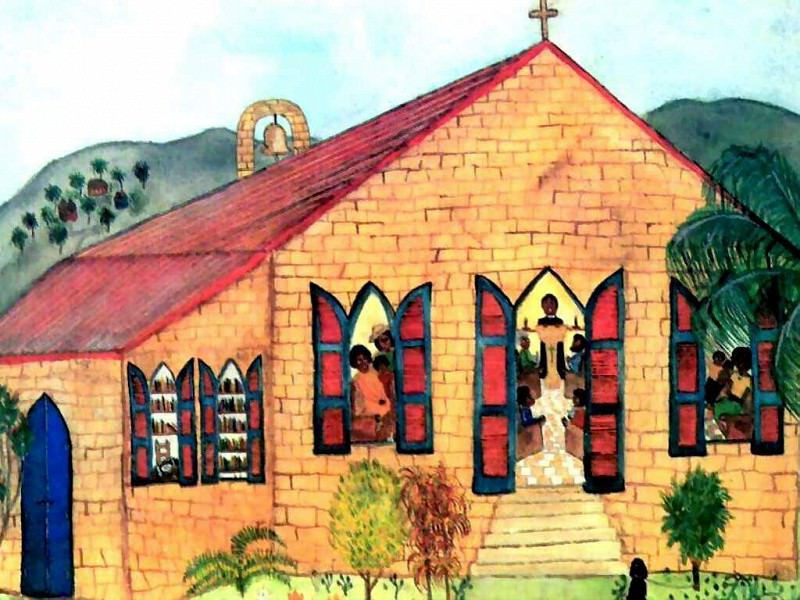 Карибский холст - Сектантская церковь. Фрейн Лессак