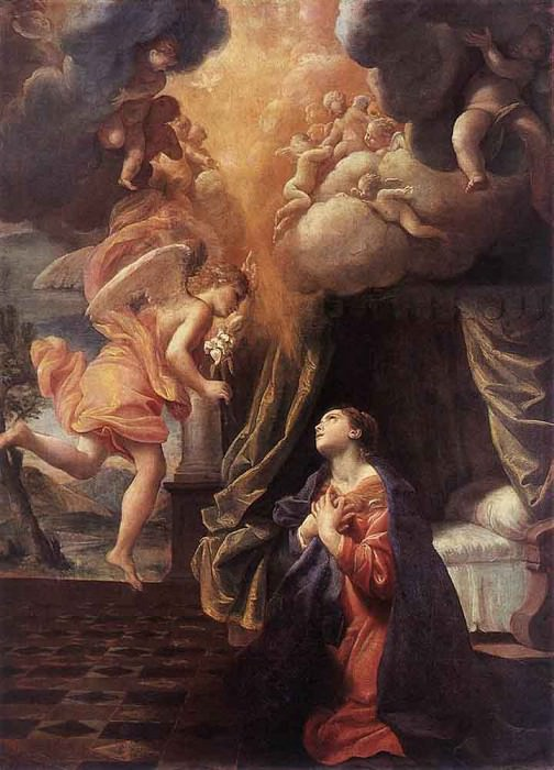 LANFRANCO Giovanni The Annunciation. Giovanni Lanfranco
