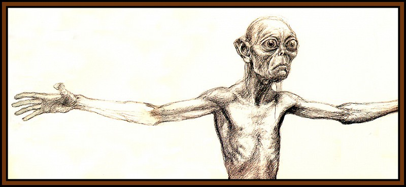 D50-LOTR-Gollum06-Alan Lee. Алан Ли