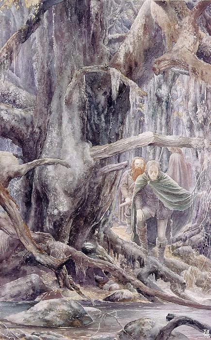 ma Tolkien35 Alan Lee Fangorn Forest. Алан Ли