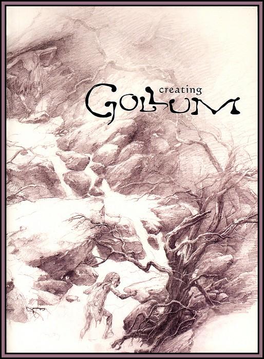 D50-LOTR-Gollum04-Book Front Cover-Alan Lee. Алан Ли