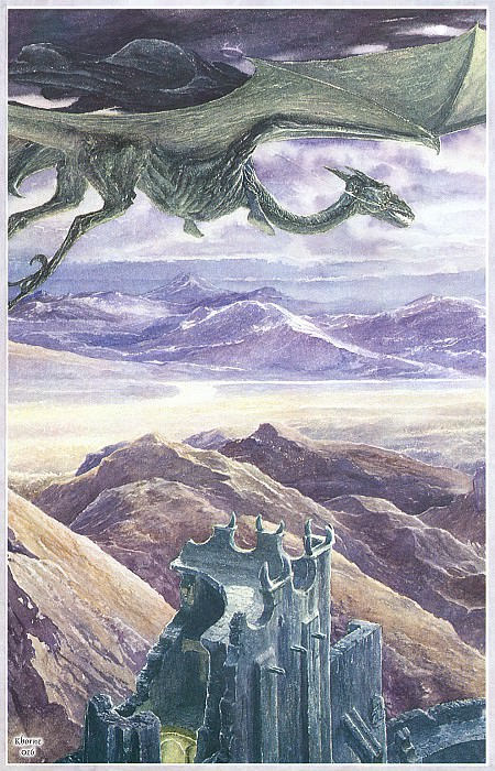 Khorne016 Alan Lee Nazgul over Cirith Ungol. Алан Ли