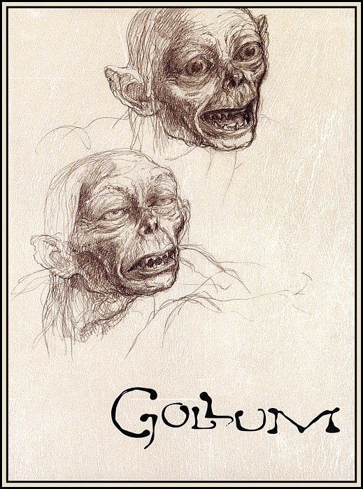 D50-LOTR-Gollum01-Box Front-Alan Lee. Alan Lee