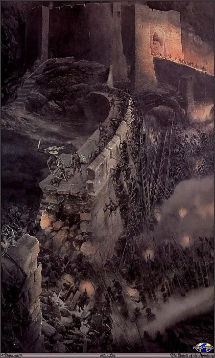15 Daruma! SWD Alan Lee The Battle of the Hornburg. Алан Ли