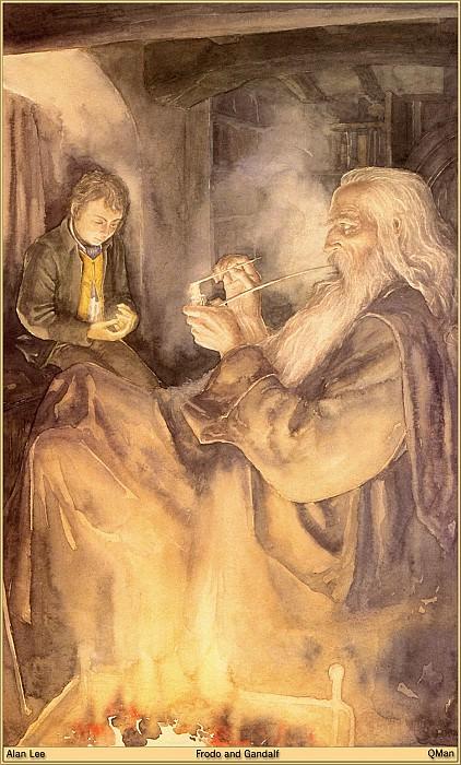 QMan AL TW 989 Frodo and Gandalf. Алан Ли