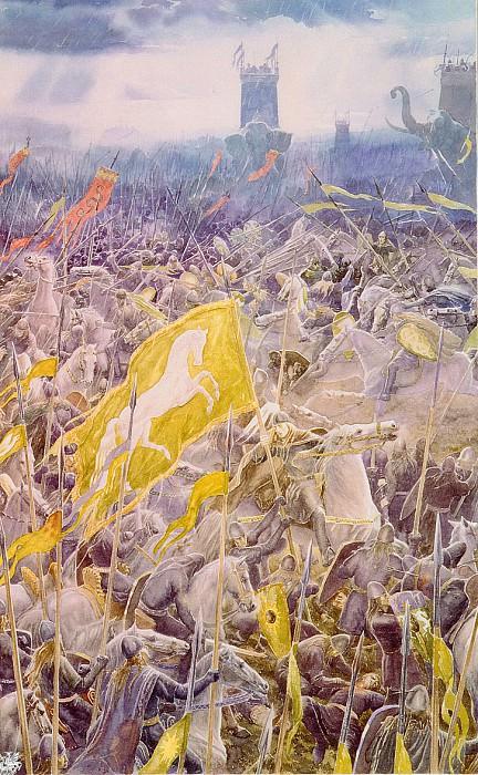 Alan Lee The Battle of the Pelennor Fields (ma Tolkien44 ). Алан Ли